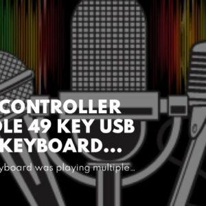 MIDI Controller Bundle  49 Key USB MIDI Keyboard Controller With 8 Beat Pads, Pro Software Sui...