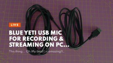Blue Yeti USB Mic for Recording & Streaming on PC and Mac, 3 Condenser Capsules, 4 Pickup Patte...