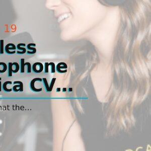 Wireless Microphone Comica CVM-WM100 Plus 48-Channel Professional UHF Dual Wireless Lavalier La...