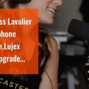 Wireless Lavalier Microphone System,Lujex New Upgrade Portable Rechargeable 2.4G Wireless Lapel...