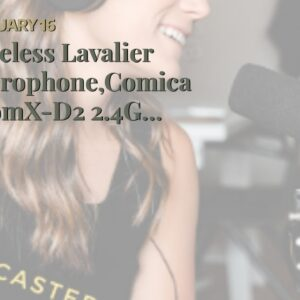 Wireless Lavalier Microphone,Comica BoomX-D2 2.4G Compact Wireless Microphone System with 2 Tra...
