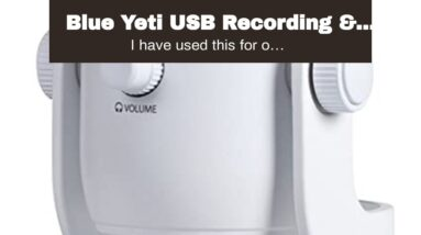 Blue Yeti USB Recording & Streaming on PC and Mac, 3 Condenser Capsules, 4 Pickup Patterns, Hea...