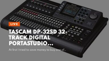 Tascam DP-32SD 32-Track Digital Portastudio Multi-Track Audio Recorder,Black
