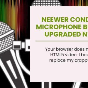Neewer Condenser Microphone Bundle, Upgraded NW-700 Professional Cardioid Studio Mic/Adjustable...