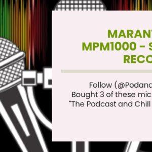 Marantz Pro MPM1000 - Studio Recording Condenser Microphone with Shockmount, Desktop Stand and...