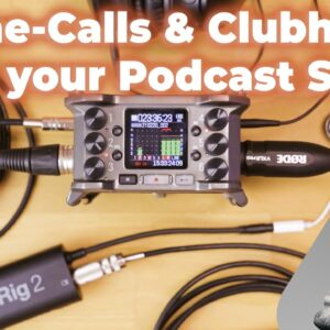 Podcast Setup & DJ Setup for Clubhouse with the Zoom F6, Mix Minus, Monitoring, and the iRig 2