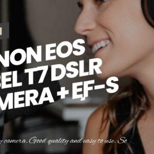 Canon EOS Rebel T7 DSLR Camera + EF-S 18-55mm f/3.5-5.6 is II + EF 75-300mm f/4-5.6 III Lens +...