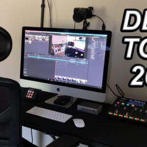 Desk Setup Tour for 2021- Video Editing, Podcasting, Live Streams