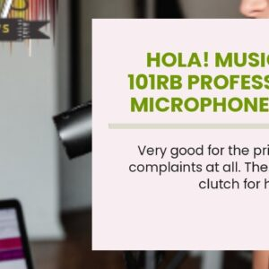 Hola! Music HPS-101RB Professional Microphone Boom Mic Stand with Round Base, Black
