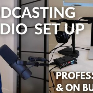 Professional PODCASTING studio for $1,184 | Podcasting equipment setup for beginners on a budget