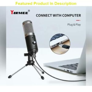 Unboxing Usb Microphone Professional Studio Mic Condenser Podcast Computer Microphone With Tripod F