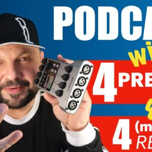 How to set up podcasts with 4 persons present + max 4 remote guests - featuring Rode Connect