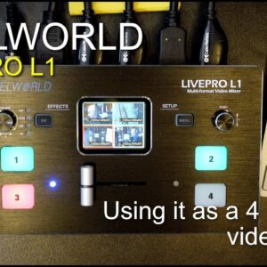 Feelworld Livepro 1 - My first impressions using it as a vision mixer