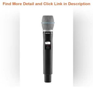 Info Shure QLXD2/B87A Wireless Handheld Microphone Transmitter with BETA 87A Capsule (Receiver Sold