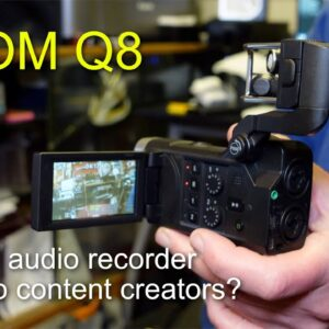 Zoom Q8 audio/video recorder - Using it as a audio recorder for video?