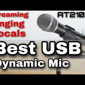 BEST BUDGET MIC Audio Technica ATR2100X review & comparison vs RODE PODMIC and BLUE YETI