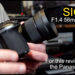 Sigma 56mm F1.4 DC DN - Micro Four Thirds mount used on my G9