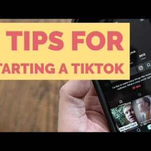 5 Tips for starting on TikTok | Grow to 1000 followers fast