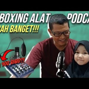 UNBOXING PODCAST EQUIPMENT FROM SHOPEE | PAKET PODCAST DUA ORANG MURAH! | MBA ADILLA AND FAMILY